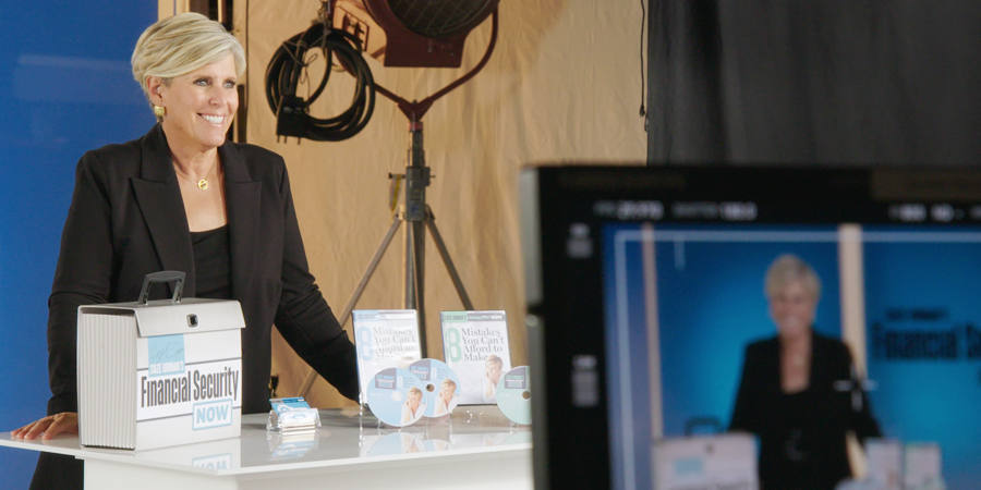 Suze Orman on set with Envision Response