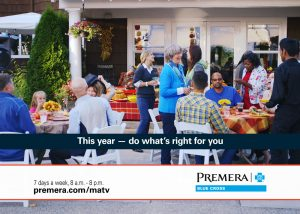 Screen shot from Premera Blue Cross commercial by Envision Response